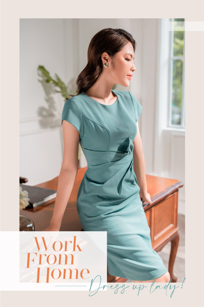 Work from home. Dress up lady!