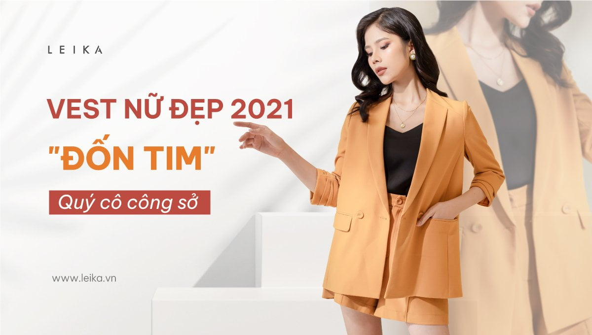 mẫu áo vest nữ đẹp 2021